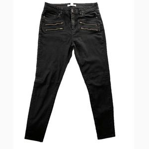 Denim - Faded Black Skinny's w/Zippers